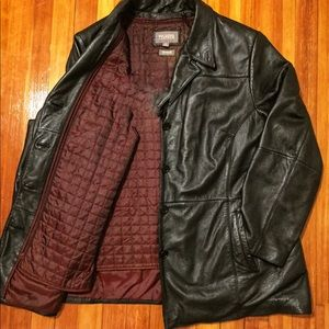 Black Leather Jacket by Wilson Leather